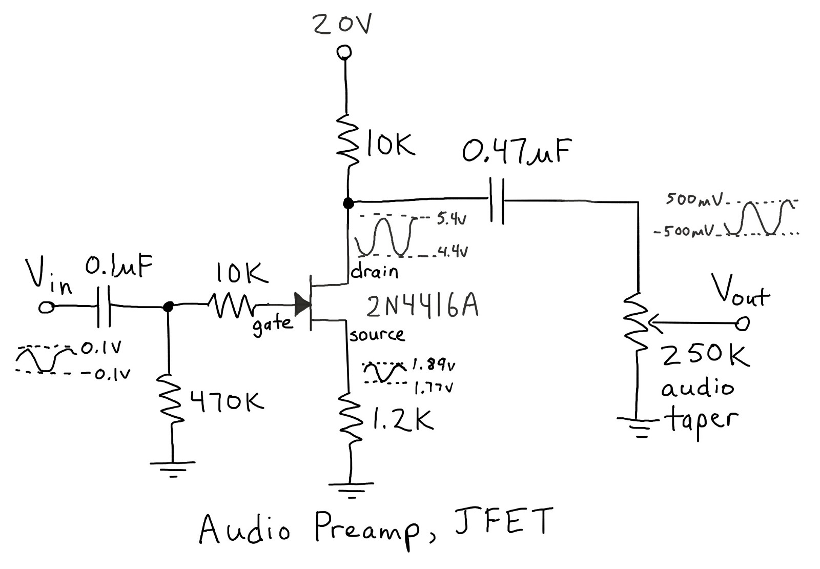 Using Vacuum Tubes To Learn Jfets Tom Anderson Medium Fet As A Switch Working Of Mosfet Or Jfet The Names Components Map From