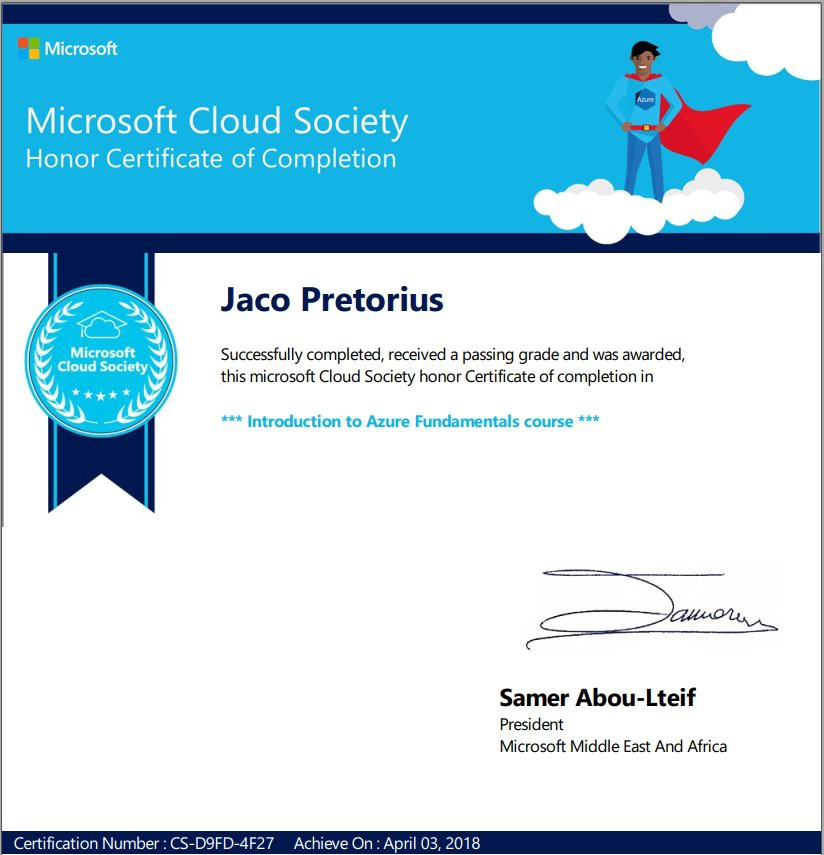 Cloud Certification Microsoft Best Cloud 2018