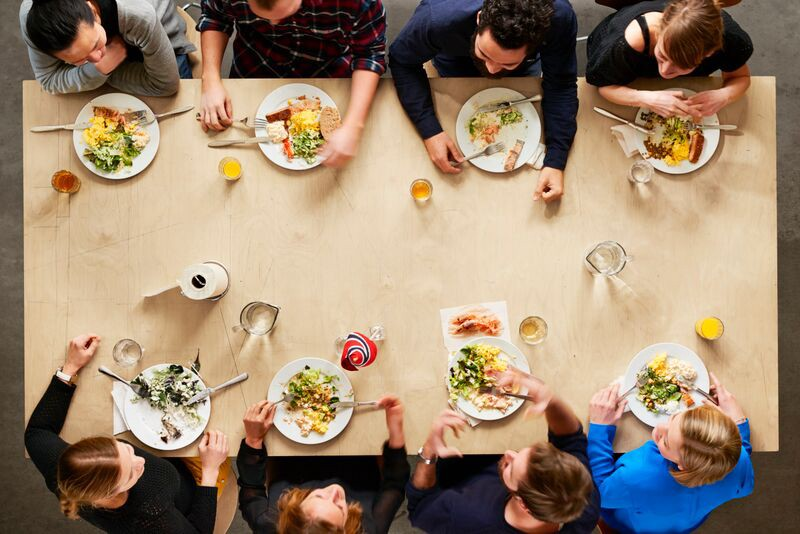Fast food being the best option for short lunch periods