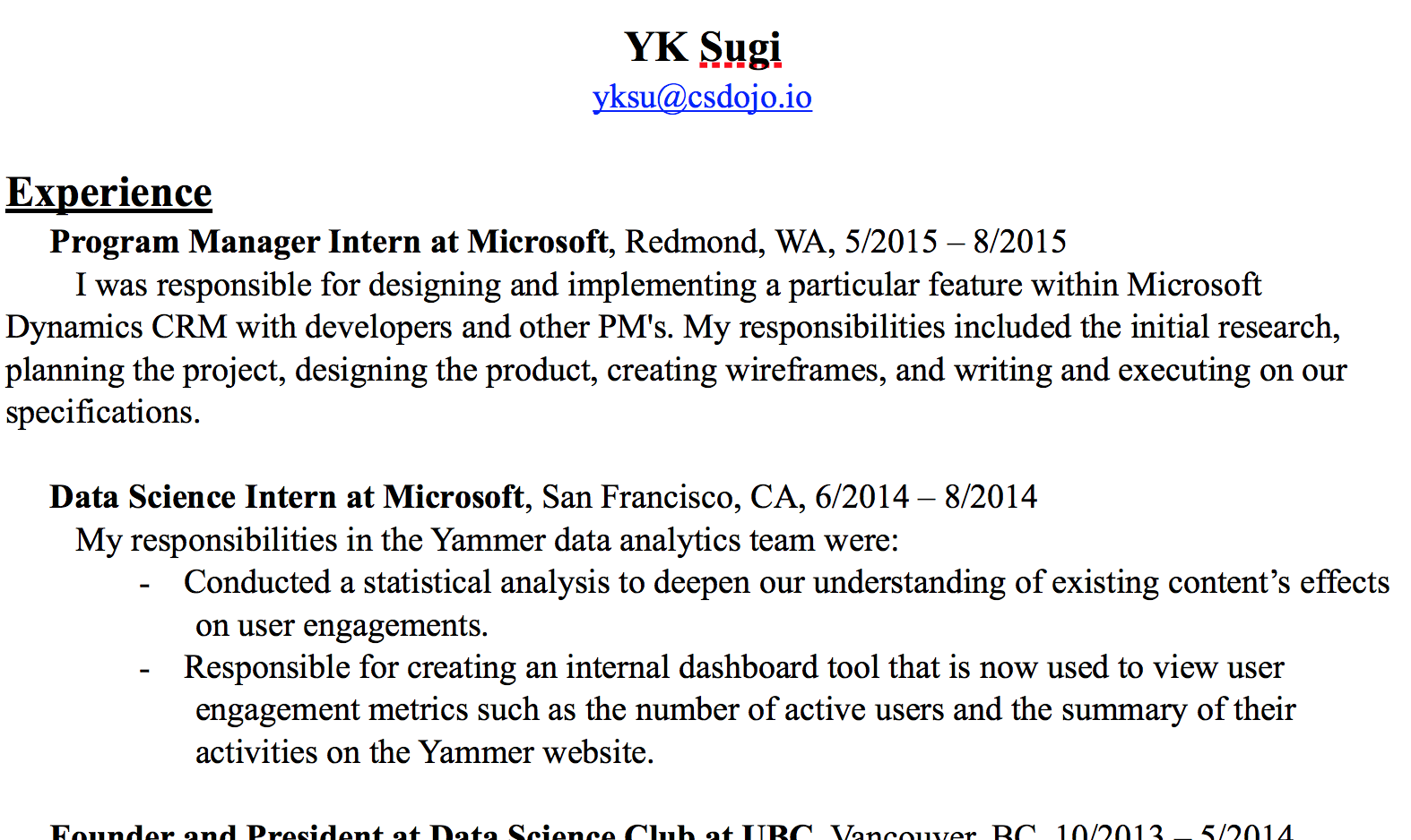 here s the resume i used to get a job at google as a software engineer