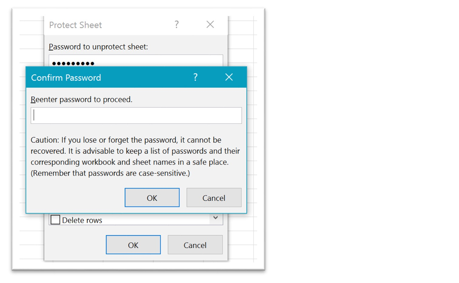 Excel 365: How to Protect Cells in a Shared Worksheet