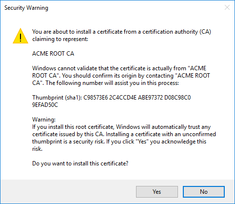 Creating a browser trusted, self signed, SSL certificate