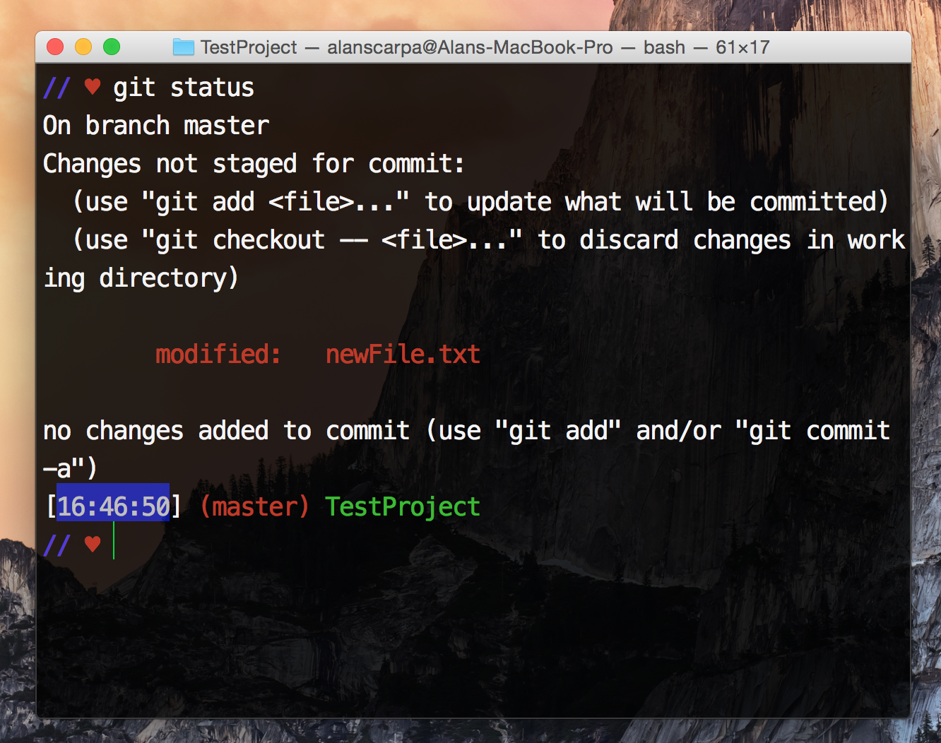What is git the 5 minute tutorial alan scarpa medium git is so smart see that red text it knows that you made changes to your newfiletxt so not only does it know when you add or delete files baditri Gallery