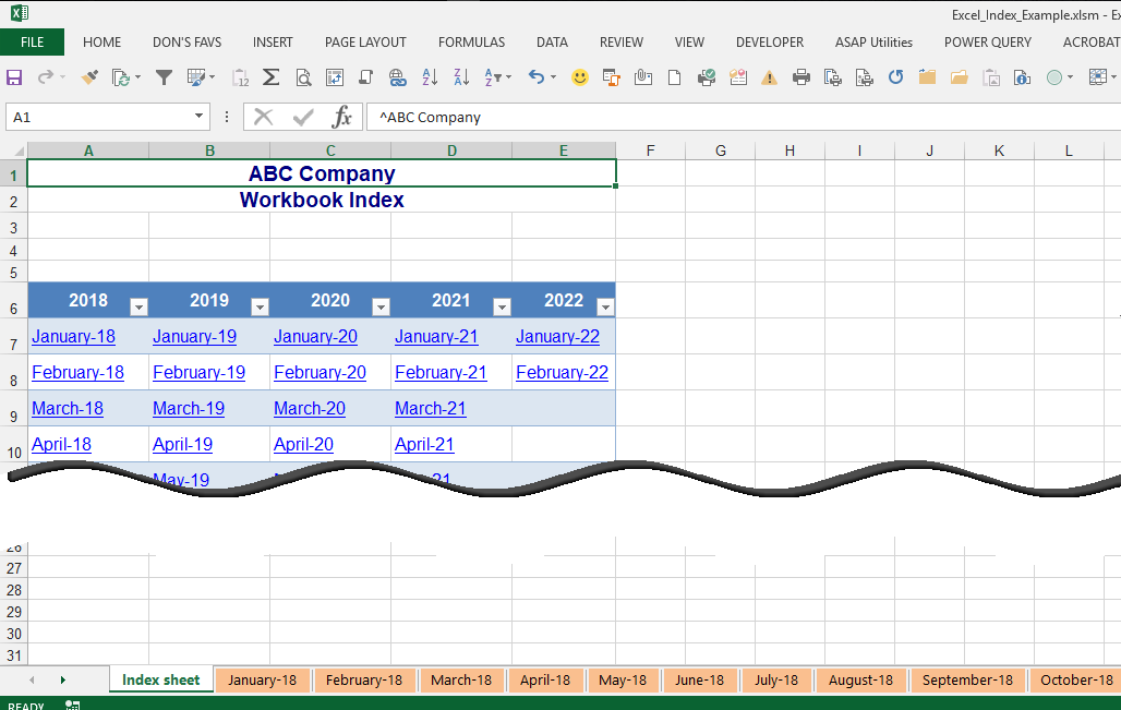 Microsoft Excel How Do I Quickly Create A Workbook With Multiple Tabs. Index Sheet Modified For Easy User Use. Worksheet. Vba Deselect Sheet At Clickcart.co