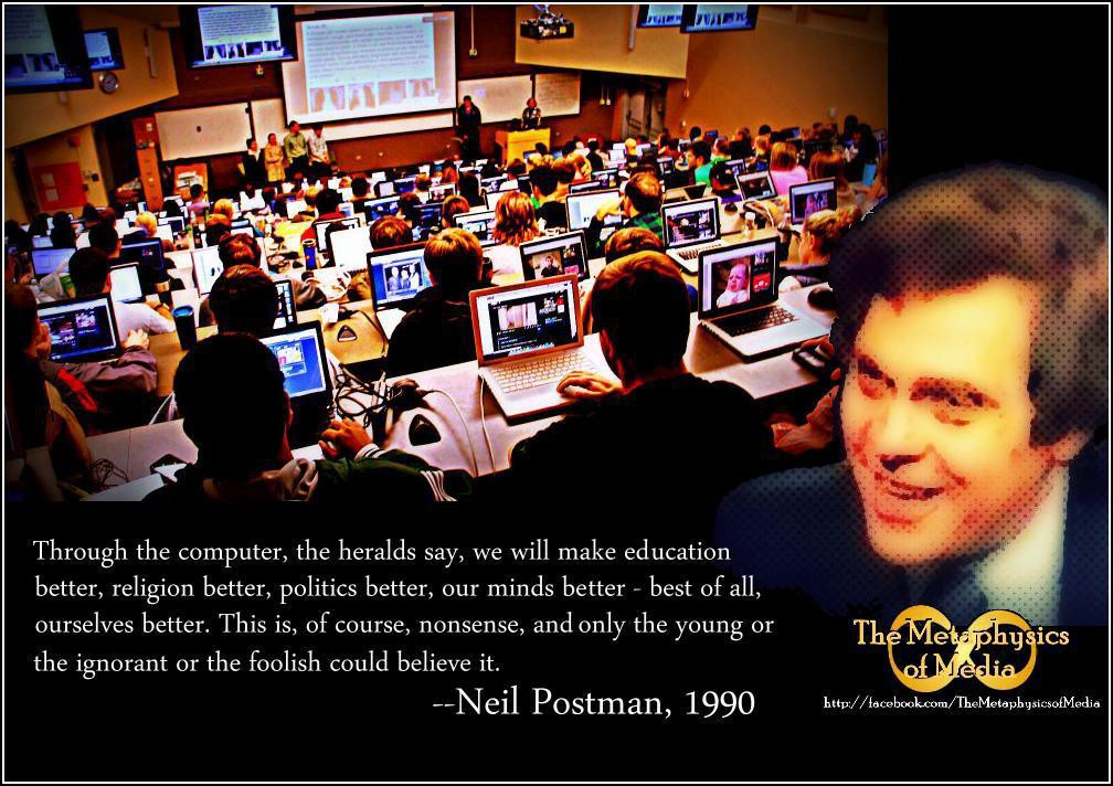 the medium is the metaphor neil postman Media is seen as our metaphors then our metaphors create the content of our culture (postman, 1985, p 15) postman exclaimed that media shapes our viewpoint but is also influencing our world therefore, the world and the future are experiencing the influences of technology through images.