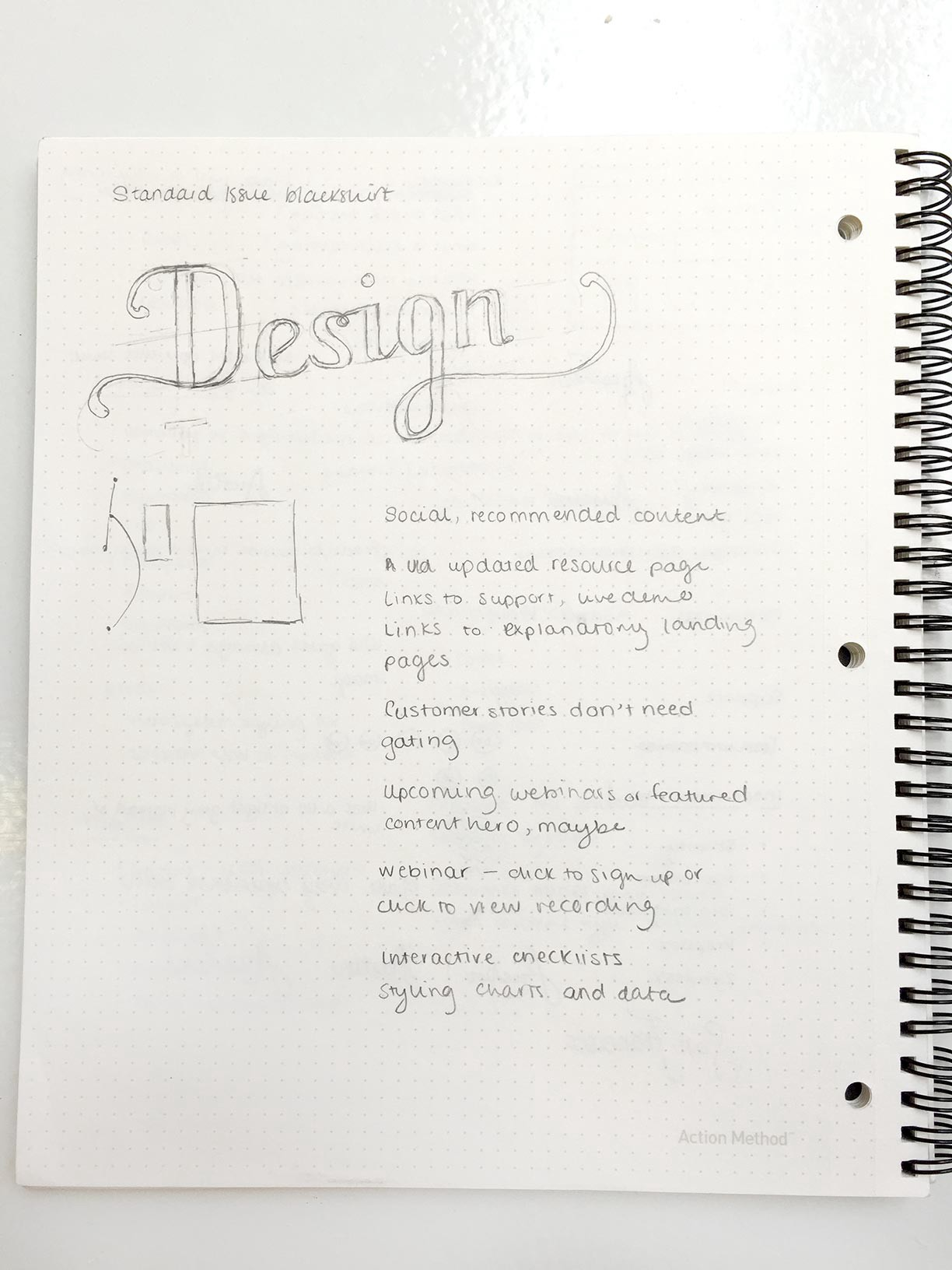 the notebooks of optimizely s design team a photo essay jules communication designer