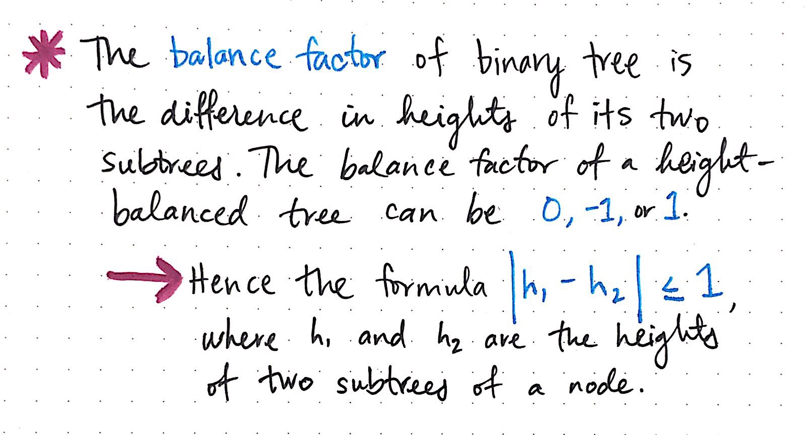 balanced tree in data structure