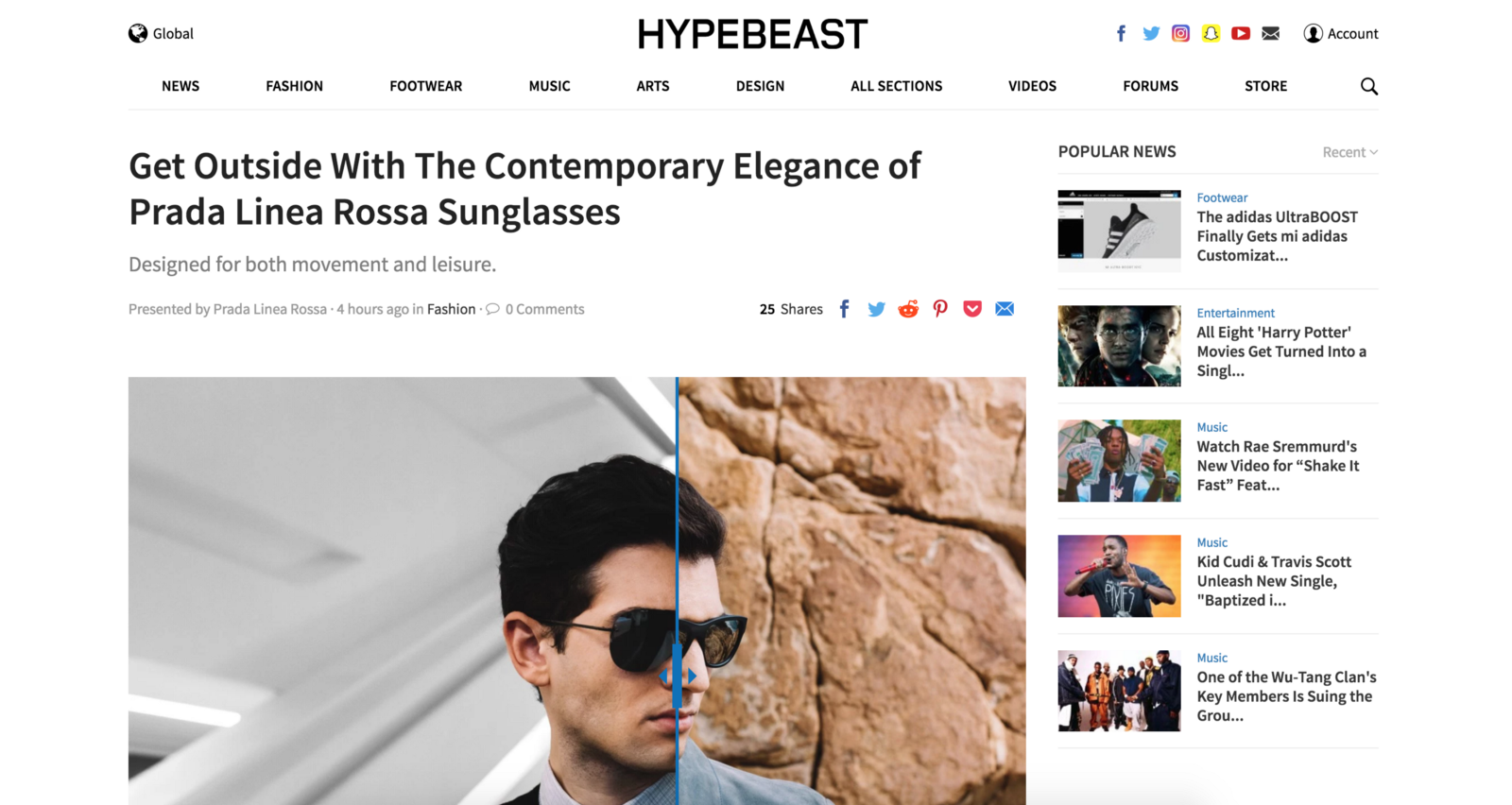 d887c48103e Figure 4  Example of Hypebeast.com posts showing the convergence of  different trends and cultures in one accessible site