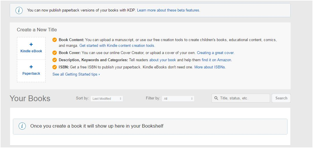 Its free and easy to self publish your book a step by step guide just a screen shot fandeluxe Image collections