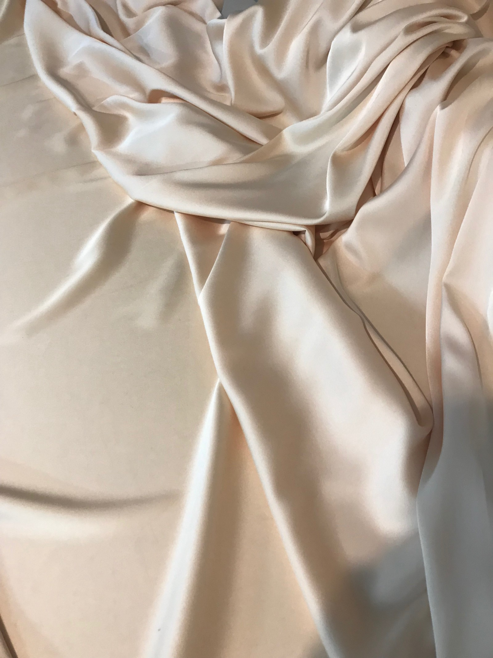 Lemon silk satin fabric by Bastet Noir