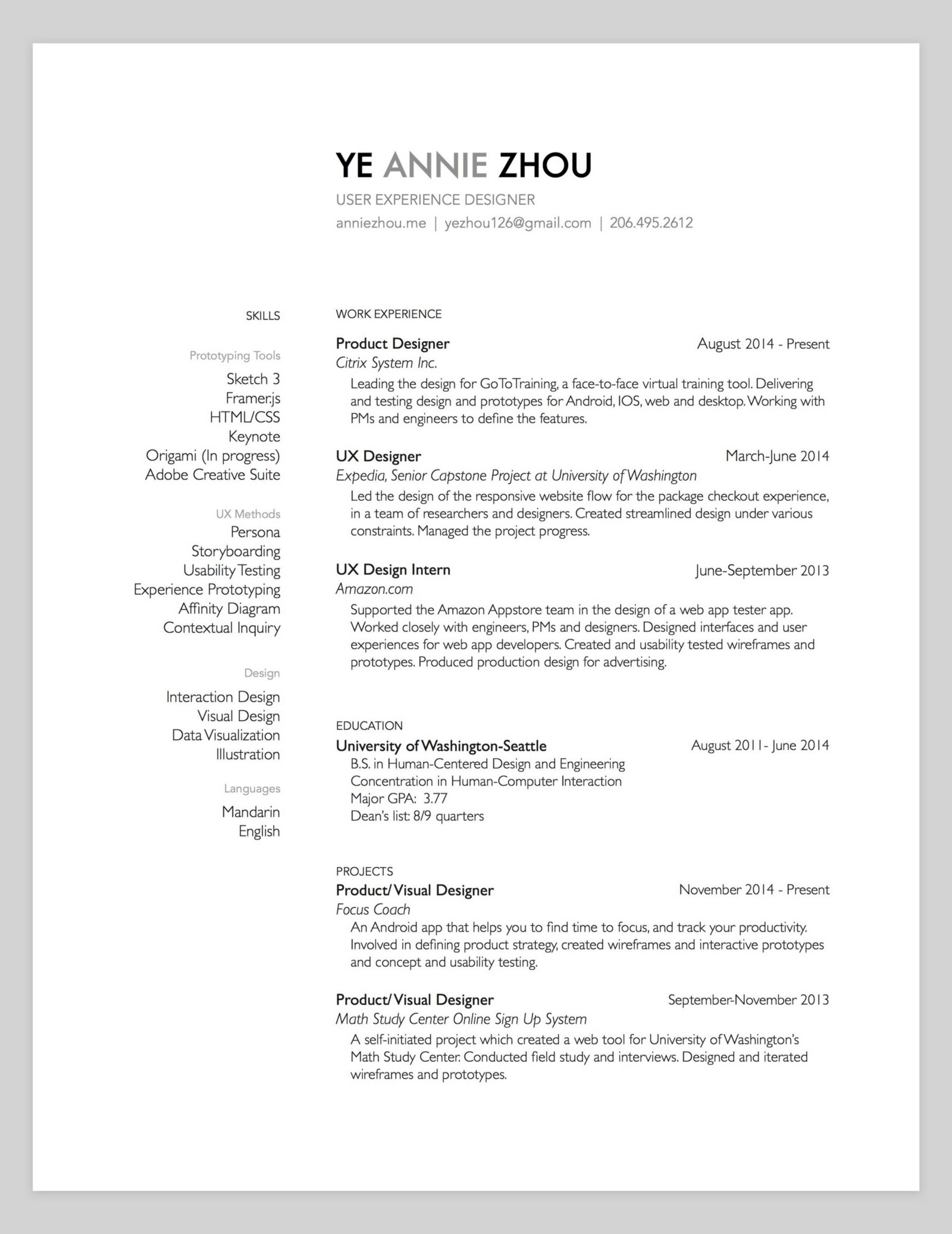 10 Amazing Designer Resumes That Passed Google S Bar