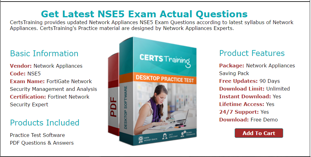Get Network Appliances Nse5 Exam Practice Tests For Quick Preparation