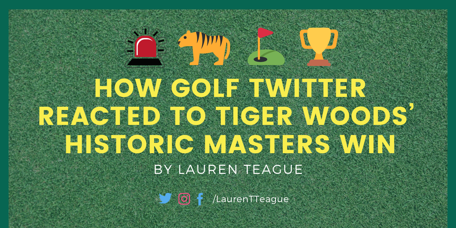 How Golf Twitter Reacted To Tiger Woods Historic Masters Win