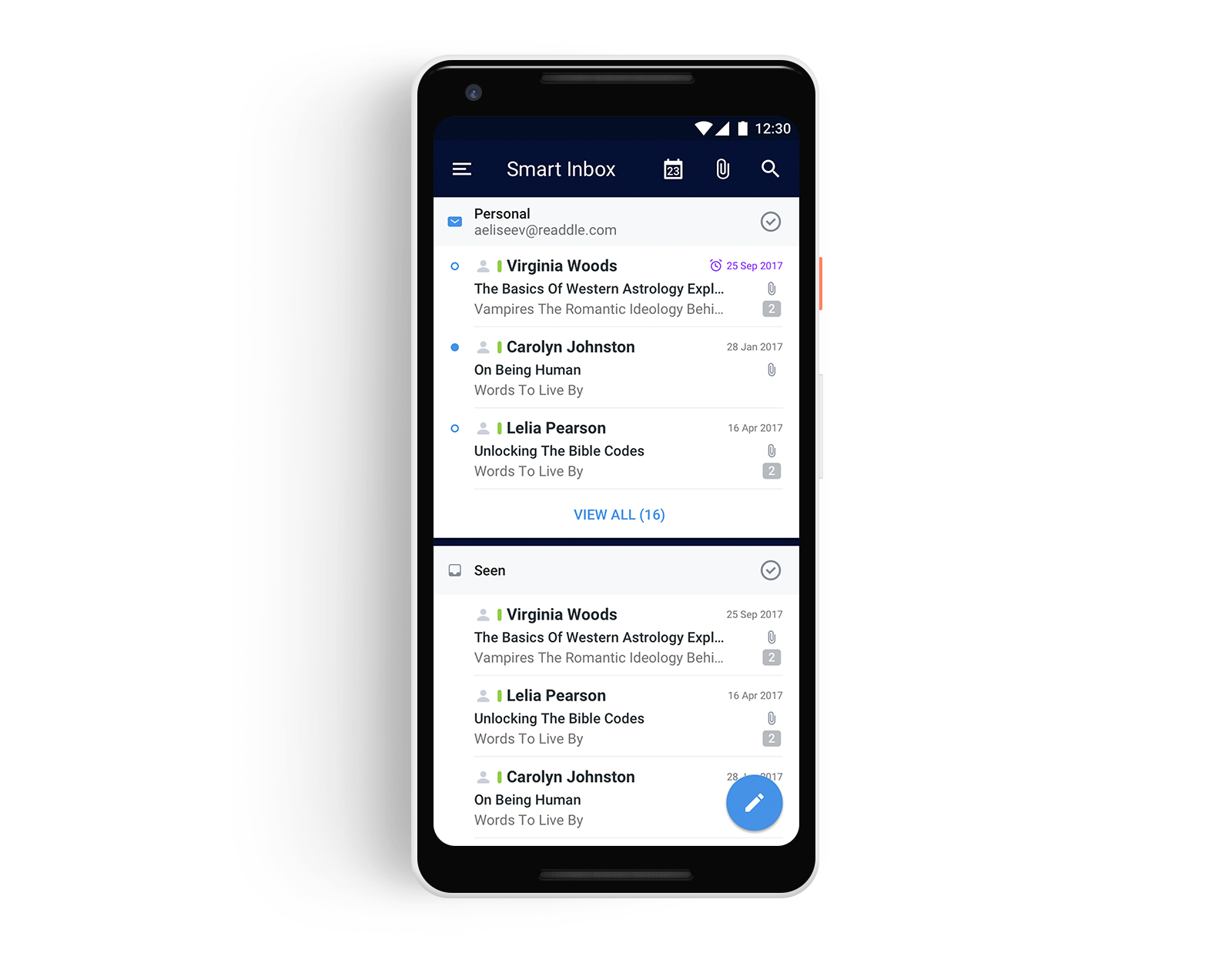 scaricare email android
