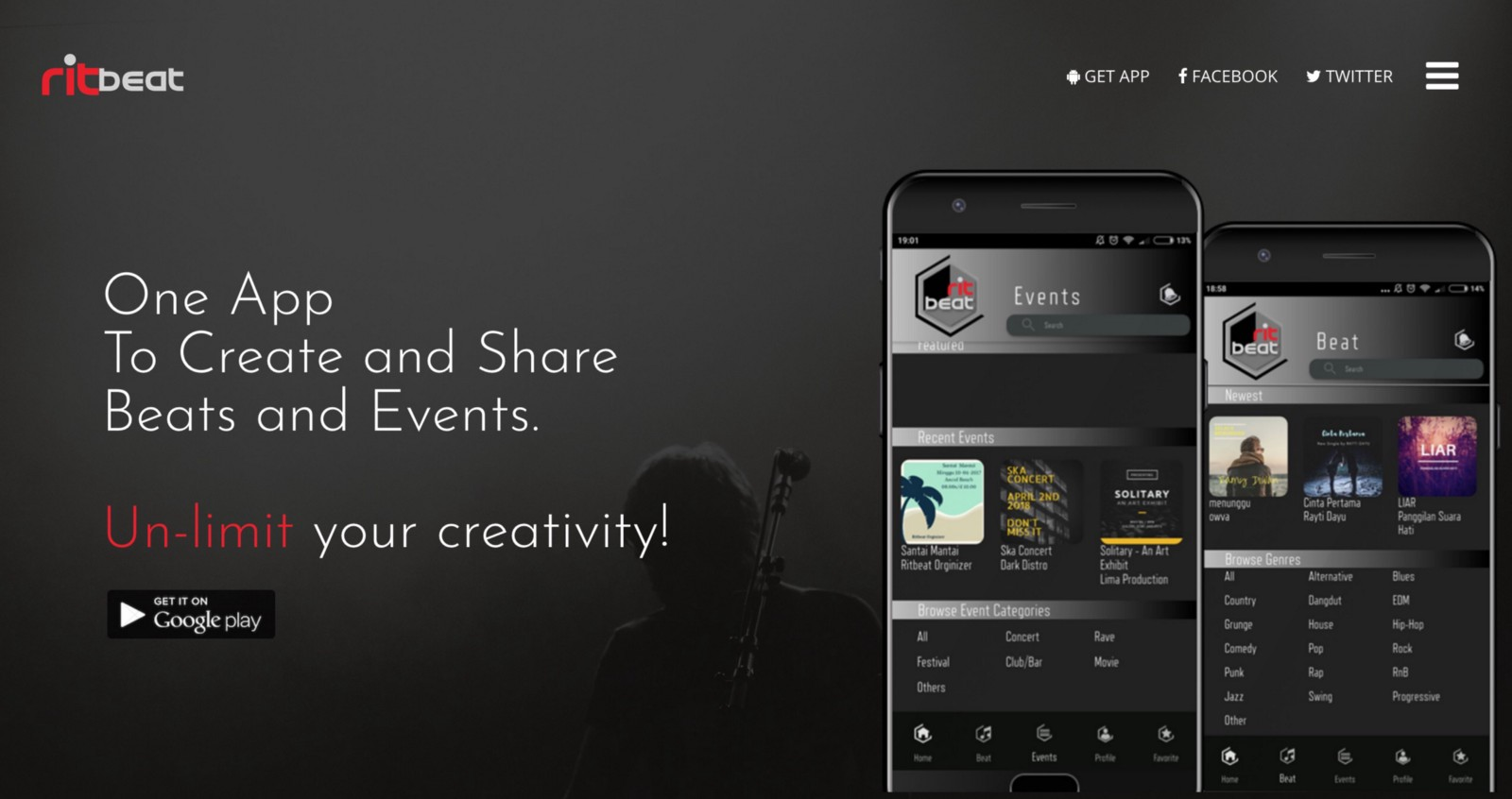 RitBeat co id — Beats and Event Sharing App – Portfolio of ACTIVY
