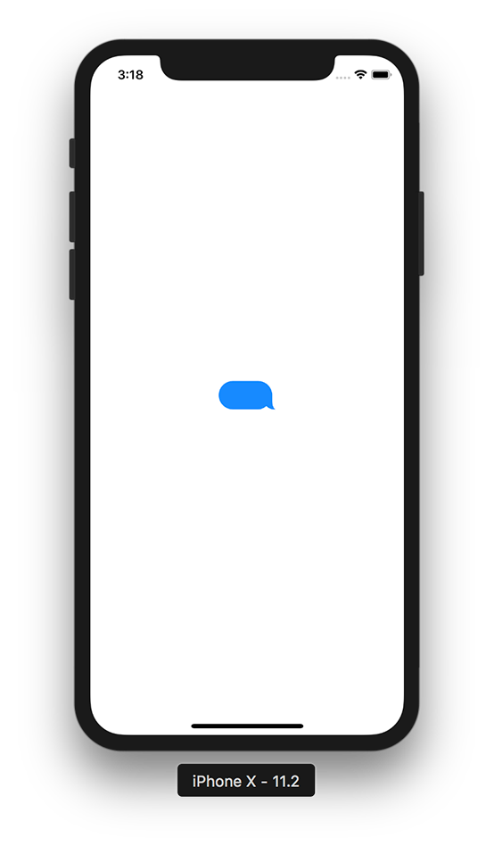creating a chat bubble which looks like a chat bubble in imessage