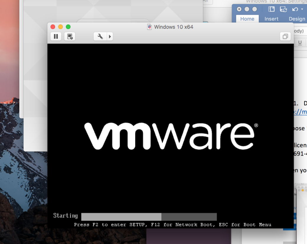This is a guide on exactly how to set up VMWare Fusion on your mac computer