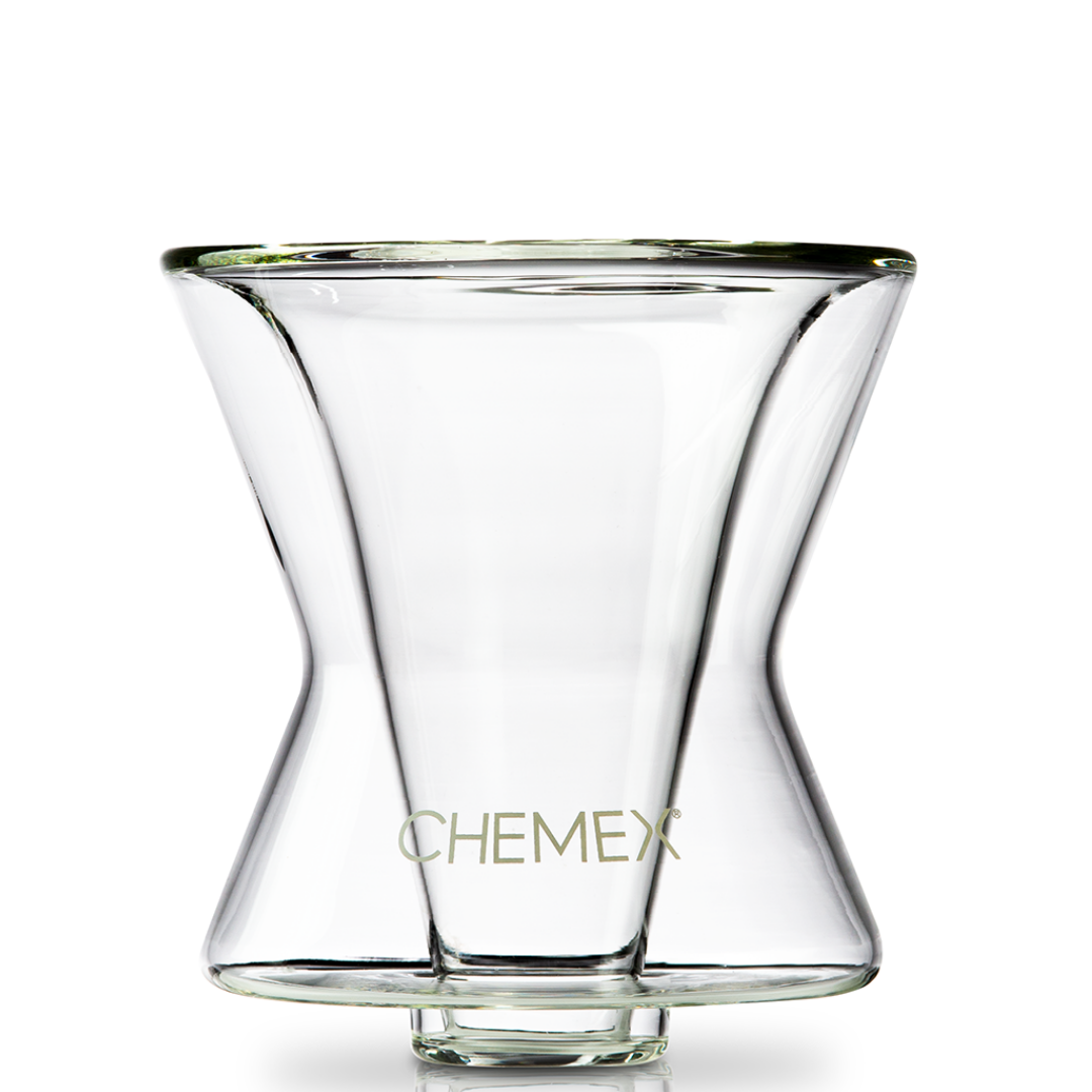 A variation of the Chemex called the Funnex which lets coffee lovers enjoy Chemex-style coffee on any cup or mug.