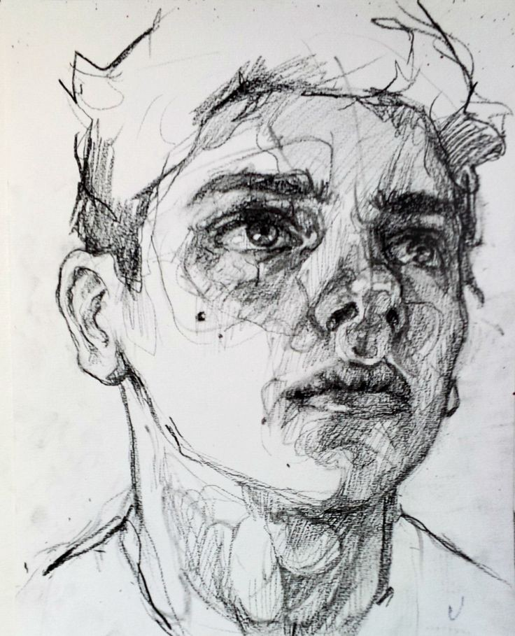 Man S Face Line Drawing : High in the hills p s i love you