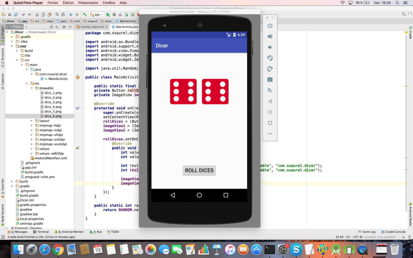 learn to create a roll dice game on android – sylvain saurel – medium