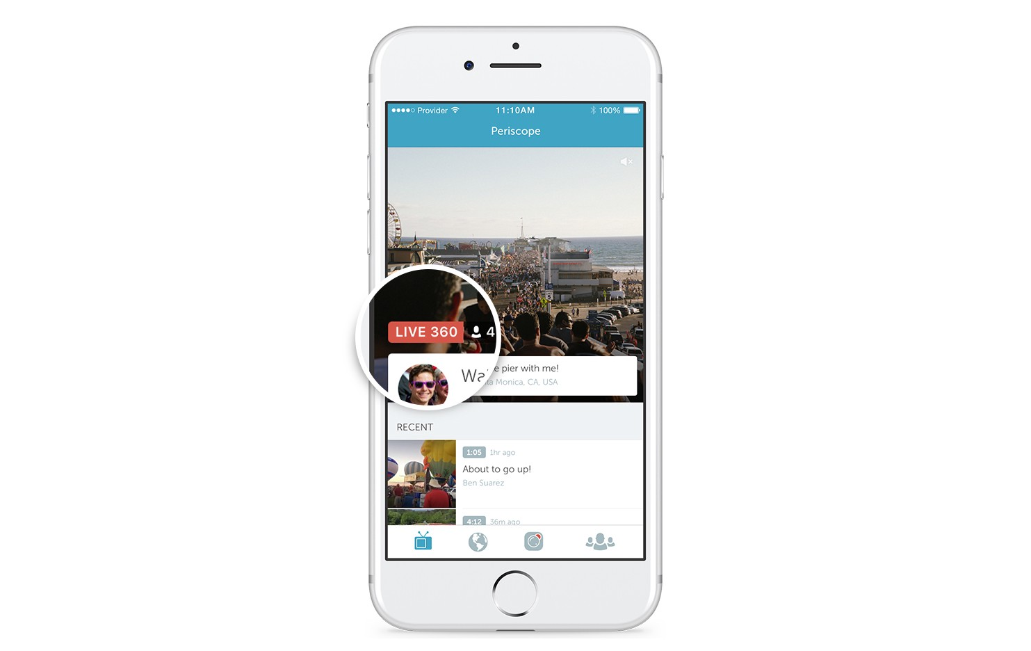 Twitter video 360 Live Persicope