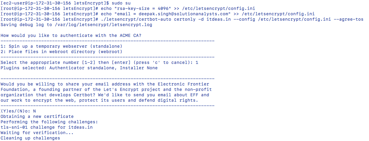 Create Ssl Certificate With Lets Encrypt For Ec2 Amazon Linux Ami