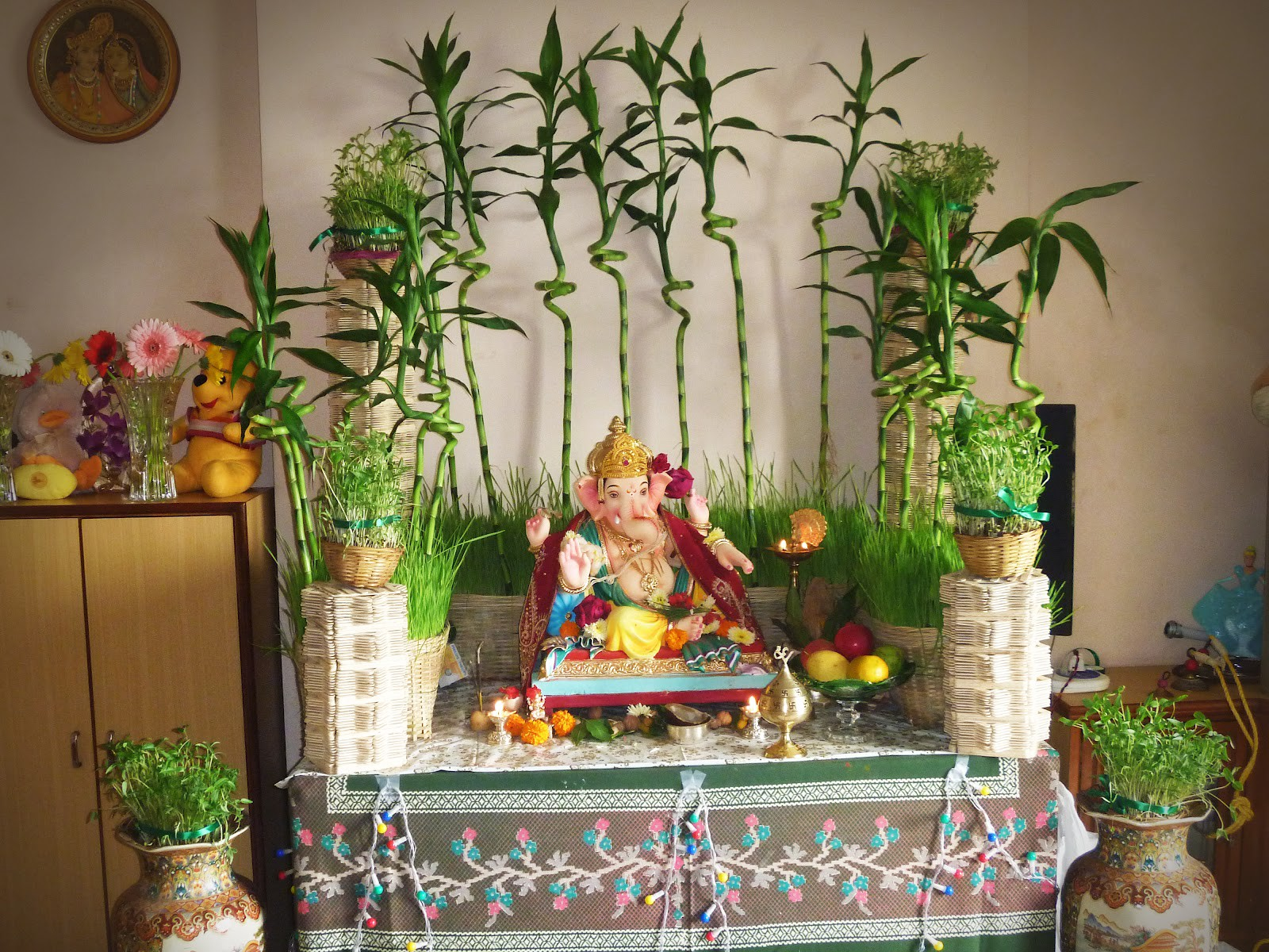 Ganpati decoration ideas at home with