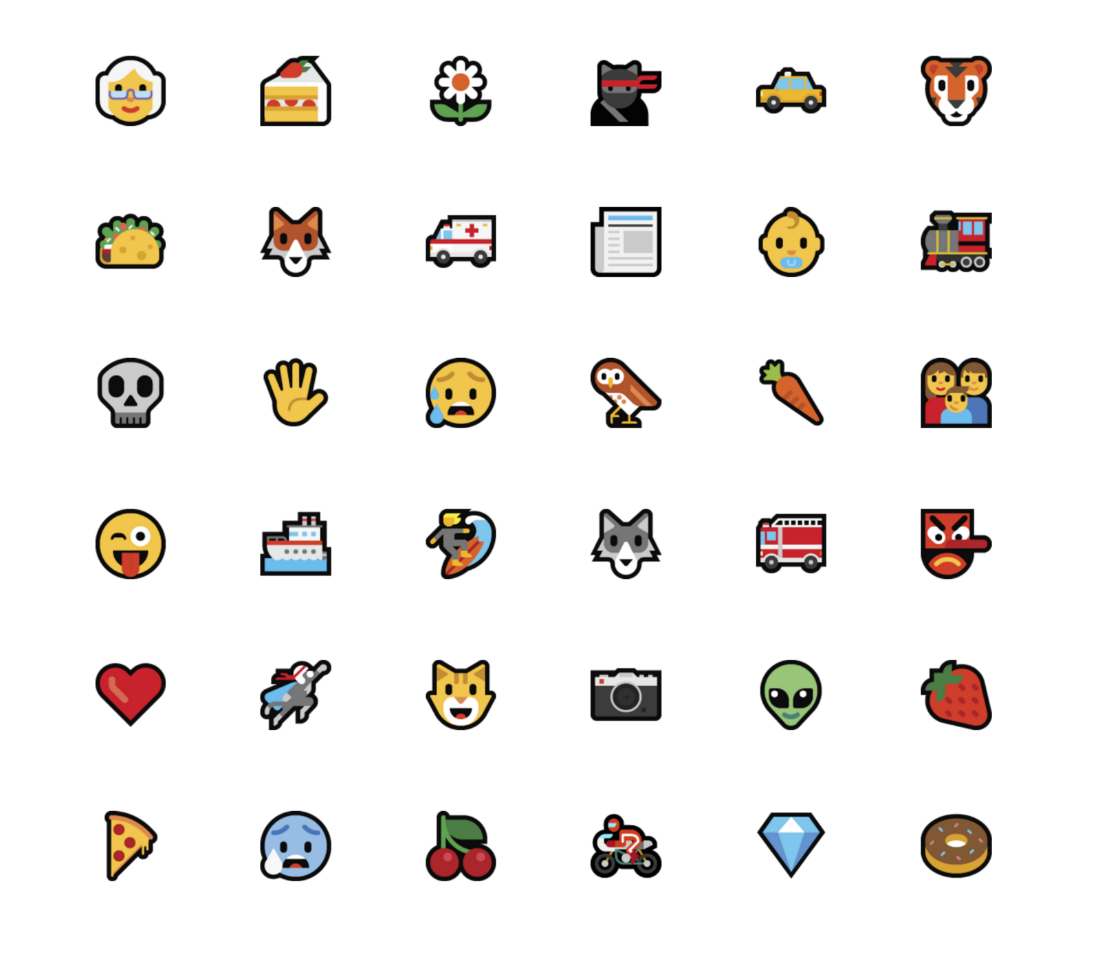 i wanted to sit down and talk with them about their real world experiences in designing emoji for such a big client