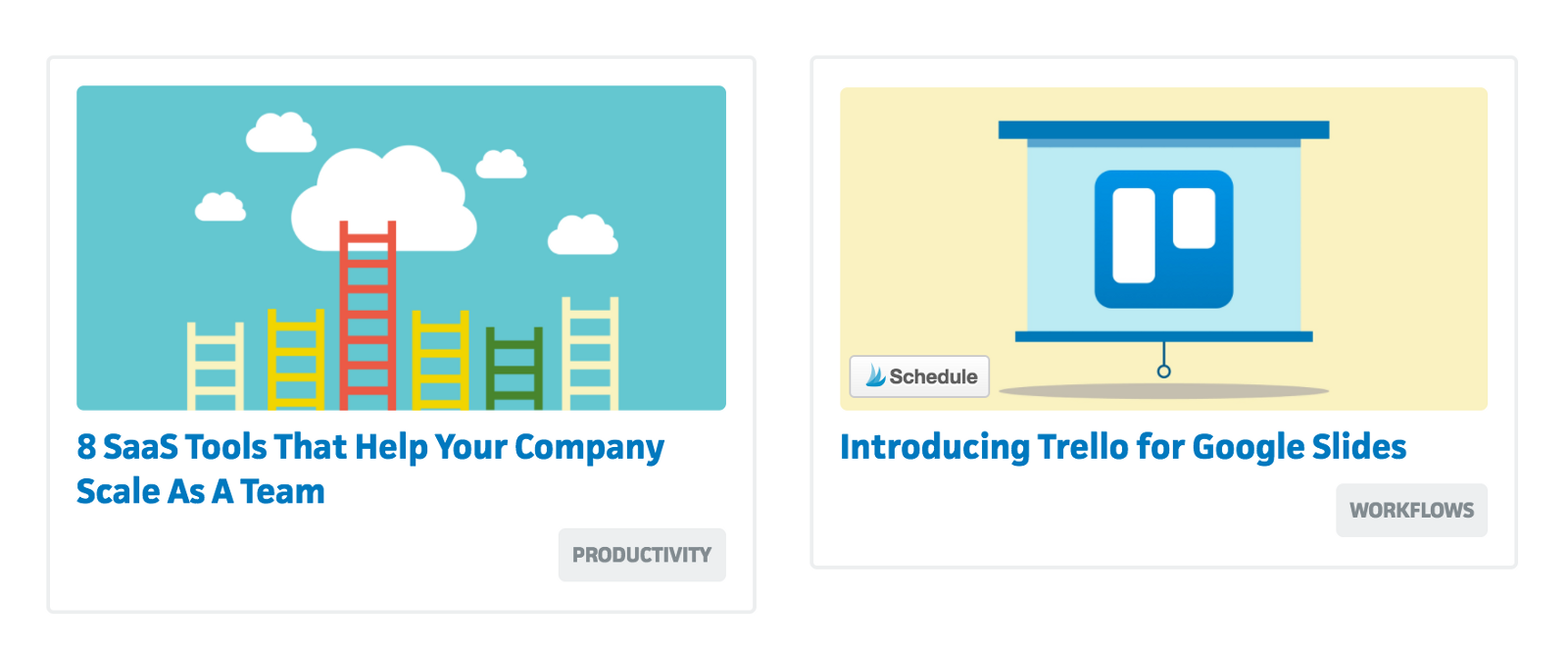 Blog Covers Are Bold Bright Vector Graphics A Useful Practice Exercise Is To Go Trellos And Look At All Their Titles