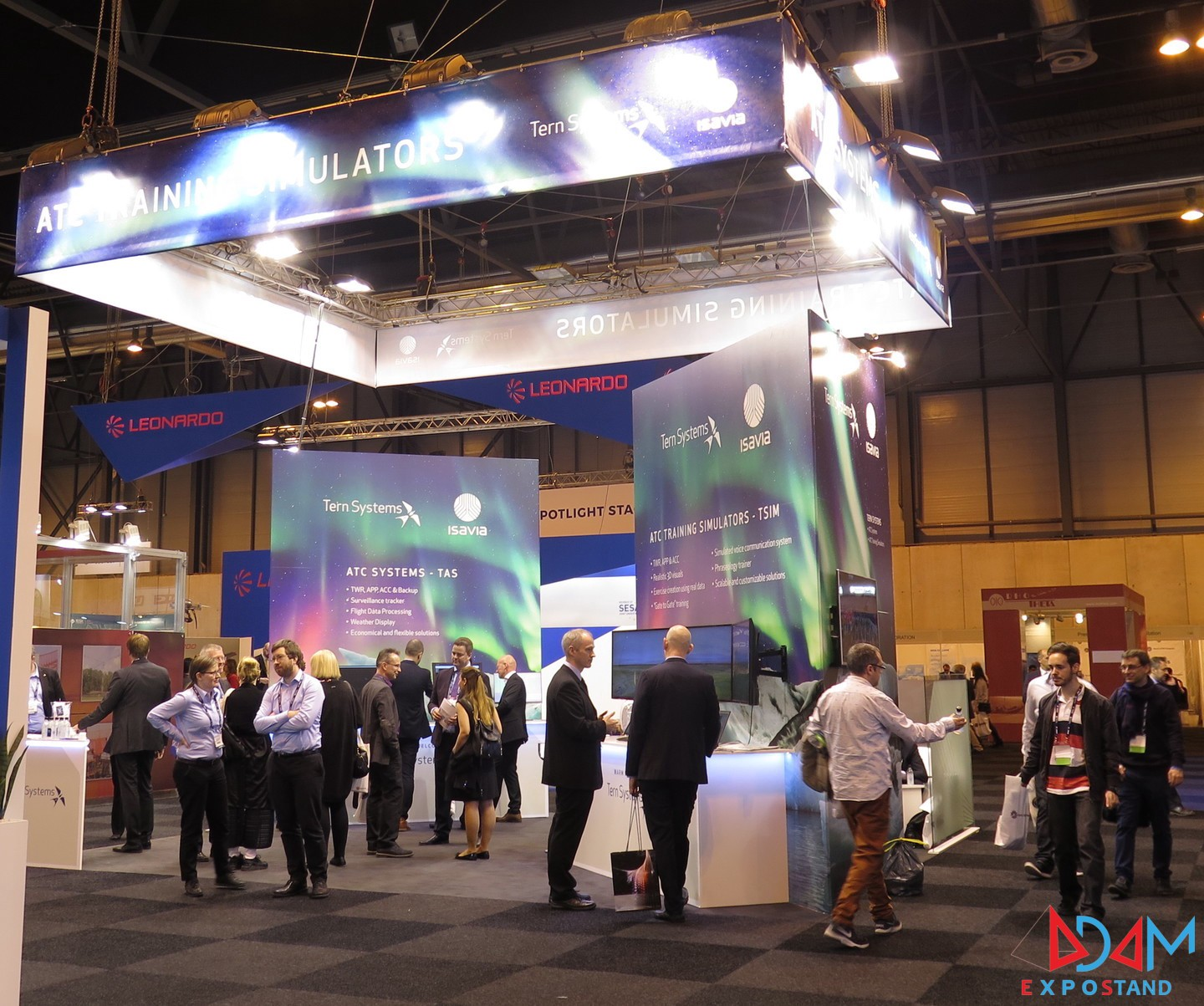 Exhibition Stand Systems : Adam expo stand performs the production and the assembly of tern