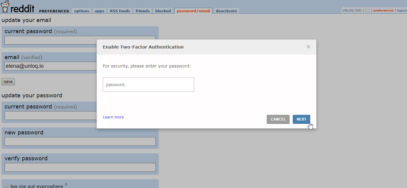 How To Add Two Factor Authentication (2FA) to Reddit