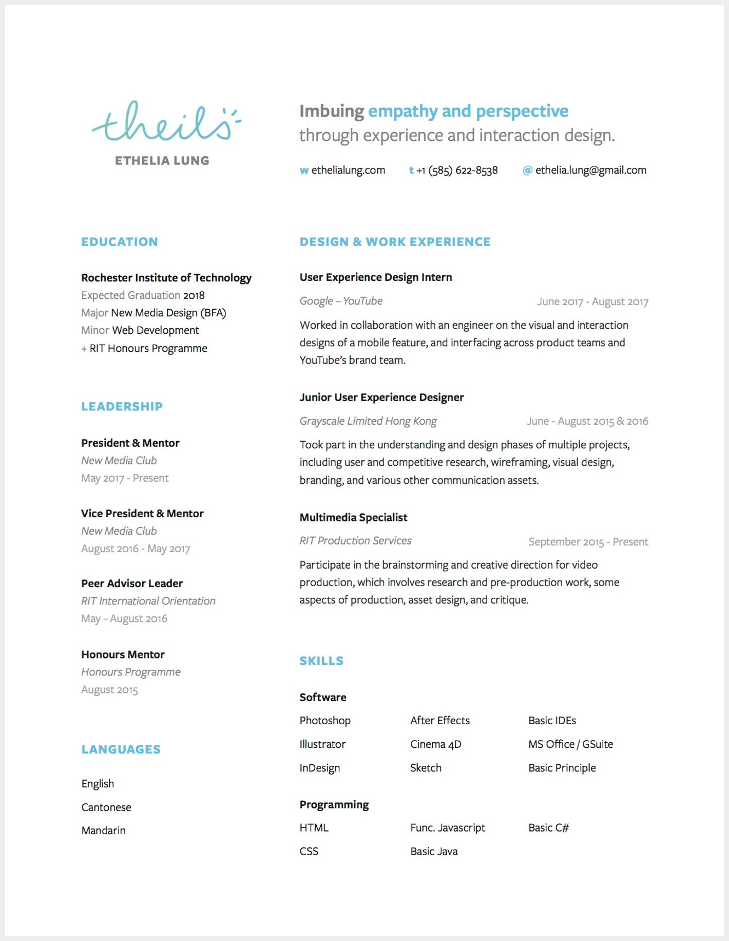 8 Brilliant Ux Designer Resumes That Secured Job Offers From Google