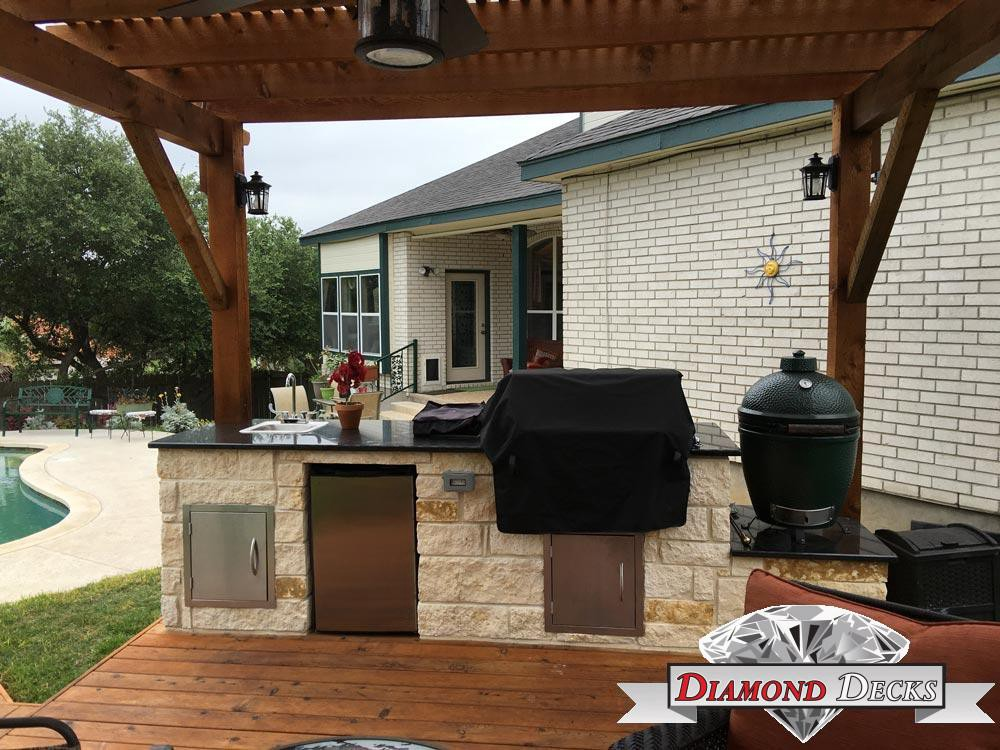 Outdoor Kitchen Builders San Antonio Diamond Deck Medium