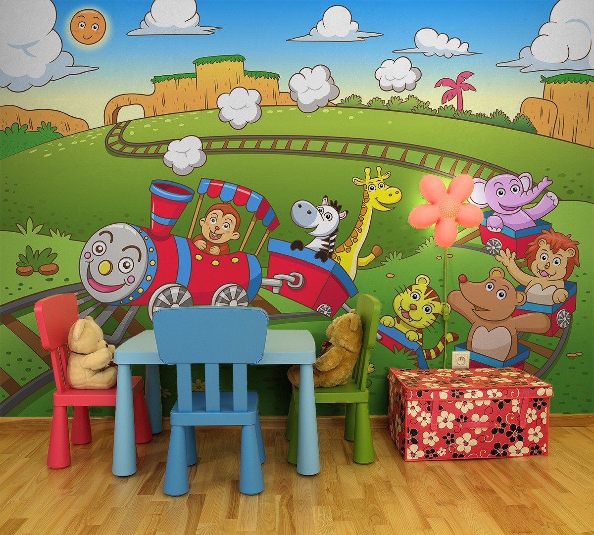 how to decorate a cozy space for children in public places a train designed by pixers