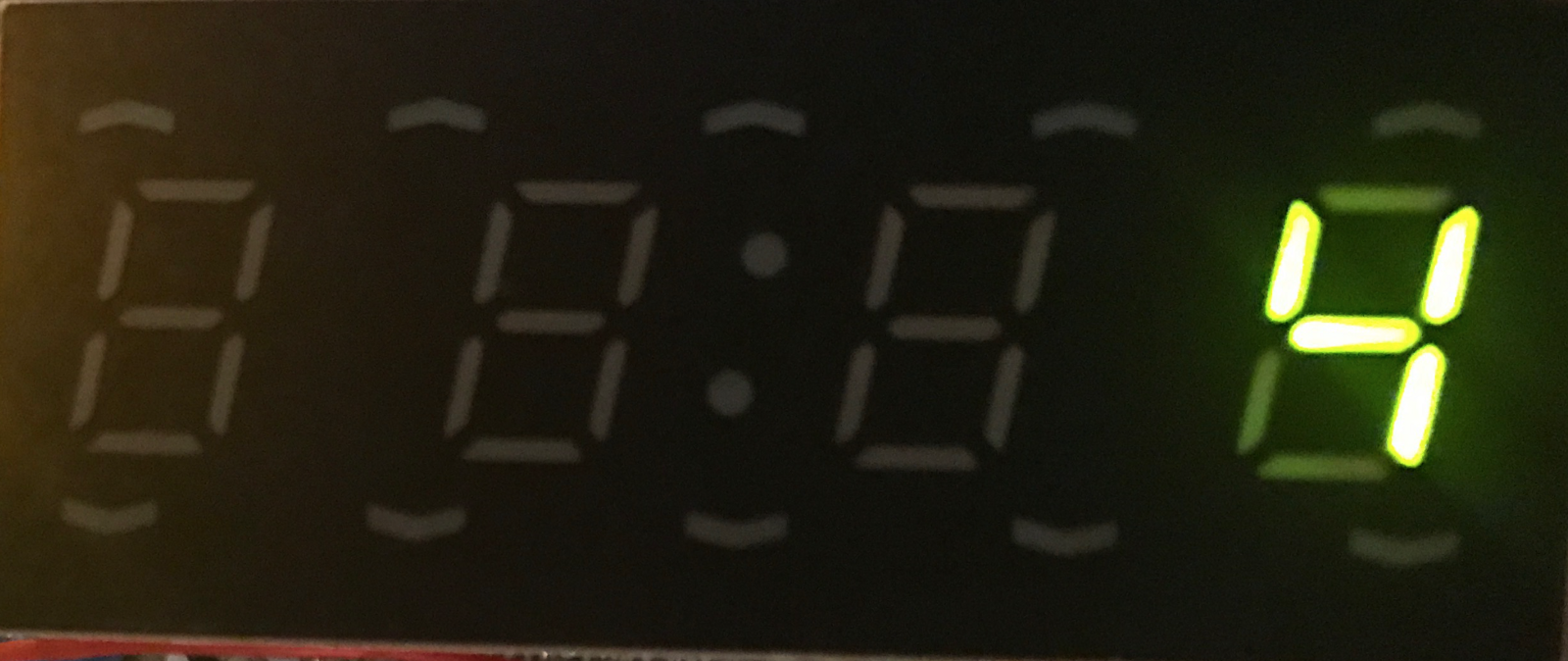 4x7 Segment Led Display As A Digital Clock Using Two 74hct595 8 Bit The Each Symbol Into 7segment It May Look Like This 16 Bits Correspond To X 2 3 4 5 1 H E F G B C D I Some Tests Examples