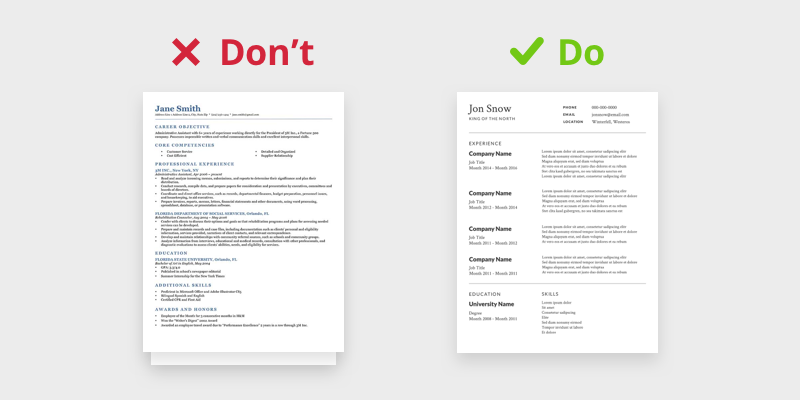 dont use long resumes
