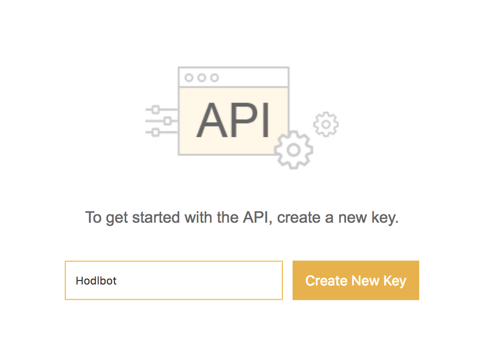 Create a new API Key on Binance
