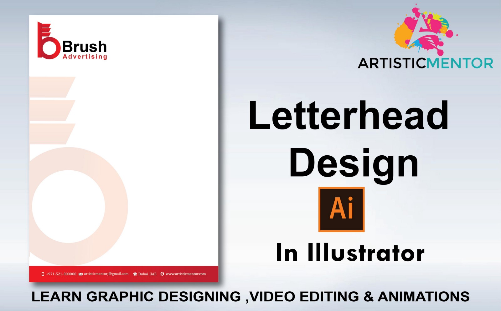 how to design professional letterhead in adobe illustrator cc