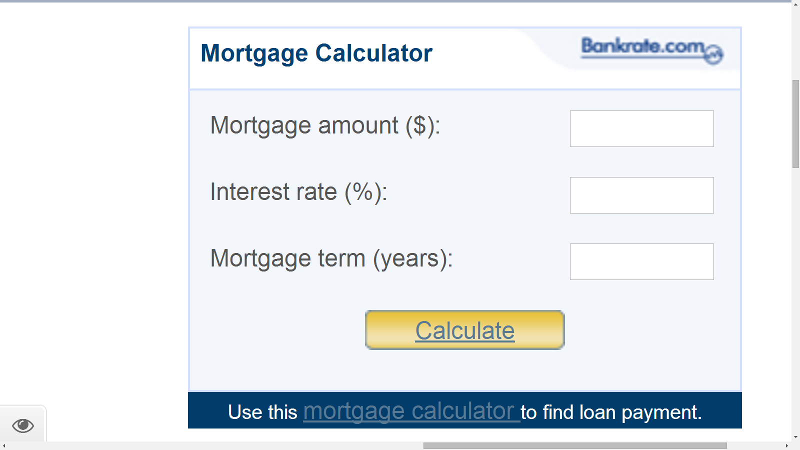 Mortgage Calculator Anchor Text Do Follow