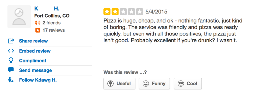 pizza casbah employee reacts to funny yelp reviews beyond the oval