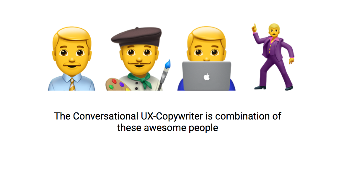 How to write winning dialogue for conversational ui it requires the combined skills of a ux writer and creative writer someone that takes a data driven approach and can be engaging at the same time ccuart Gallery