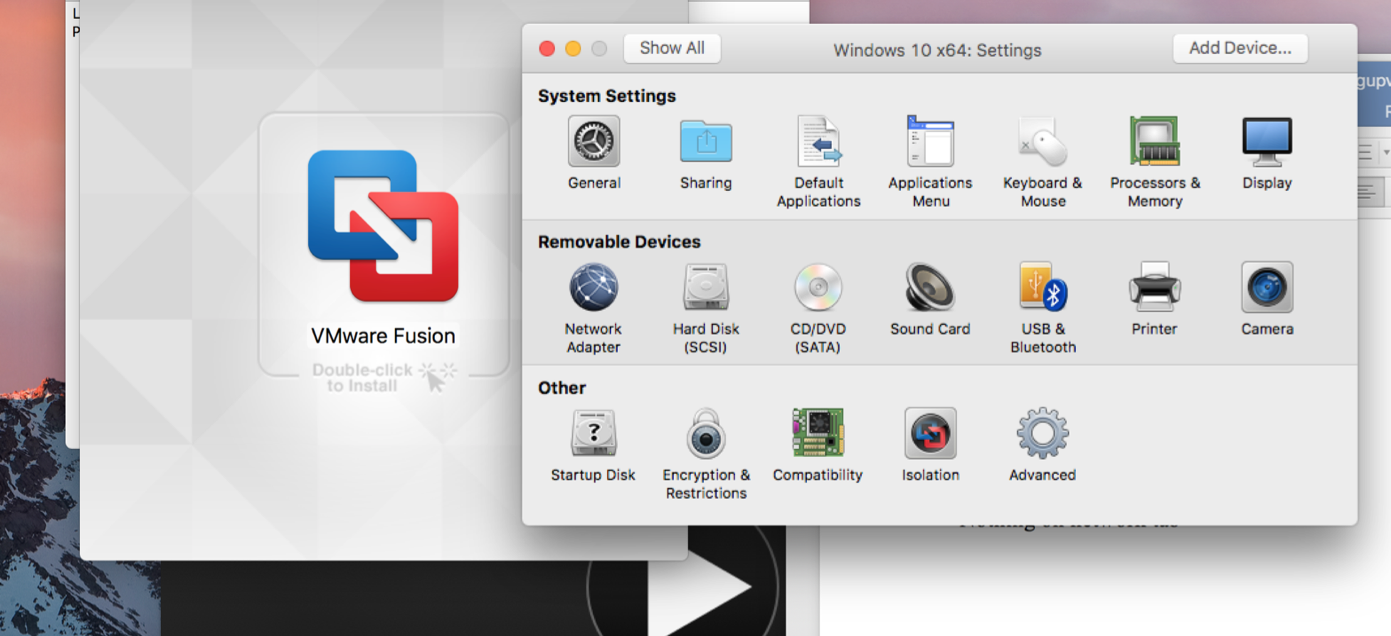 how to set up VMWare Fusion on your mac computer. Sharing Folders