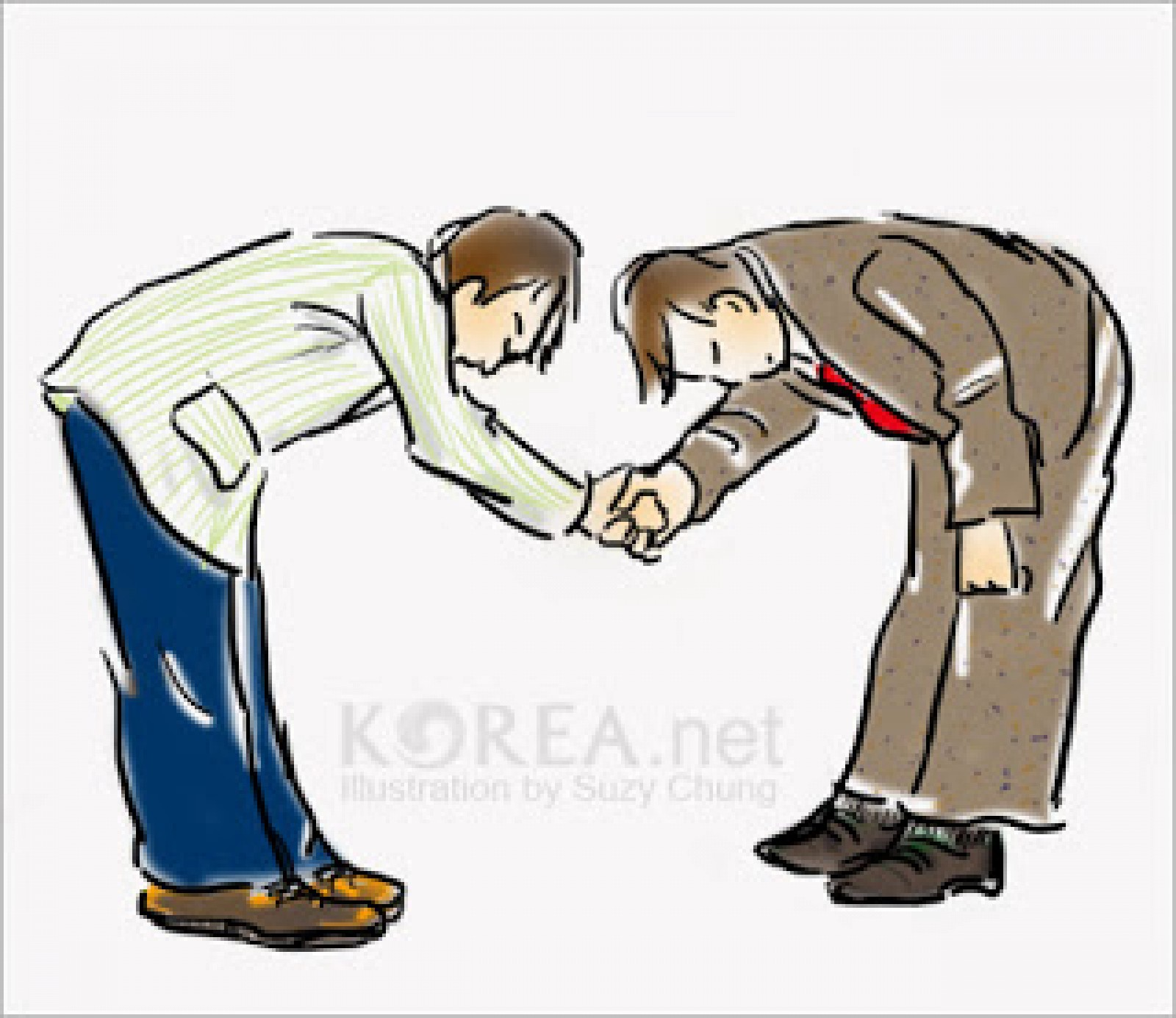Korean greetings knowingkorea medium bowing silent bow can be seen as rude so make sure to give a verbal greeting such as hello nice to meet you thank you or good bye m4hsunfo