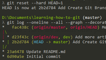 Learning How To Git Rolling Back To Previous Commit