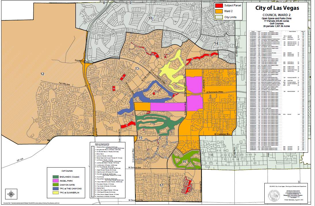 Open Spaces Ordinance Under Consideration By The Las Vegas