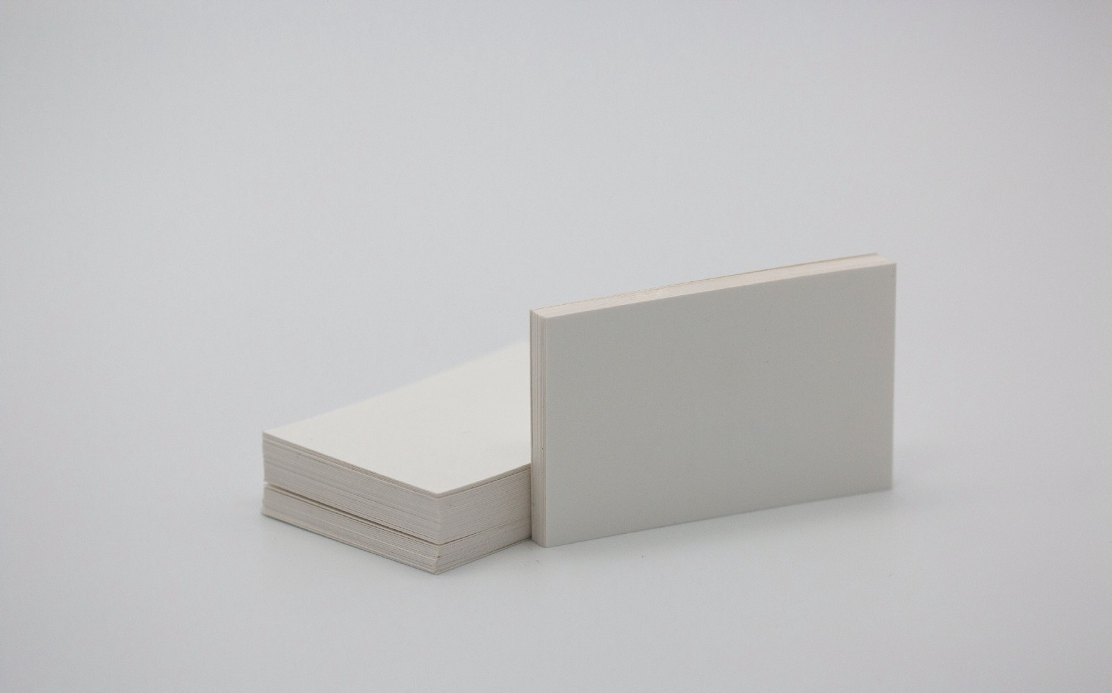 Stock photo image of a stack of blank business cards