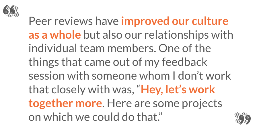 Why and how we Traded Performance Reviews for a Peer Feedback System – Peer Review Worksheet