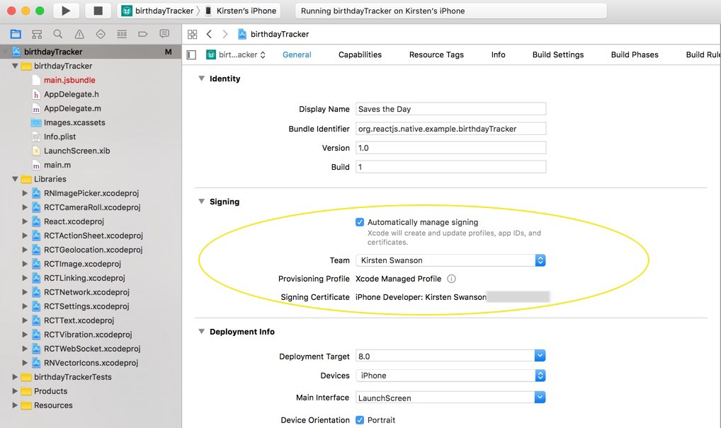 Xcode Google Drive Api For Ios Code Signing Error On Iphone