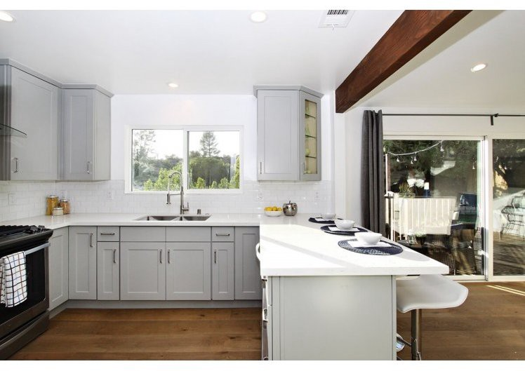 Top Amazing Kitchen Countertop Ideas For Your Grey Cabinets - Countertops for grey cabinets