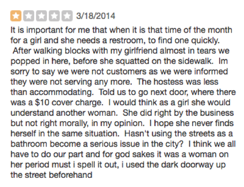 How Avant Garde A Cry For Justice Guised As Restaurant Review It S Illuminating That Our City Using The Street Bathroom Problem Can Be